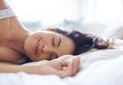 Photo of woman sleeping contentedly