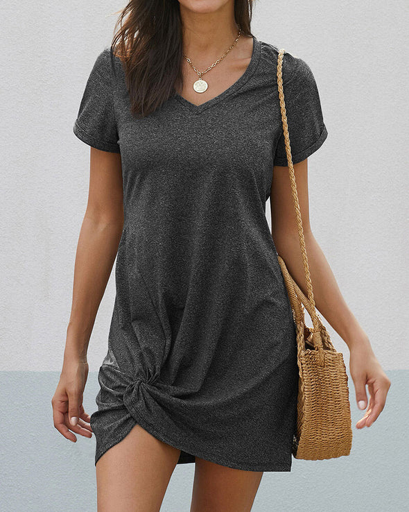 ZESICA Side Knot Mini Dress