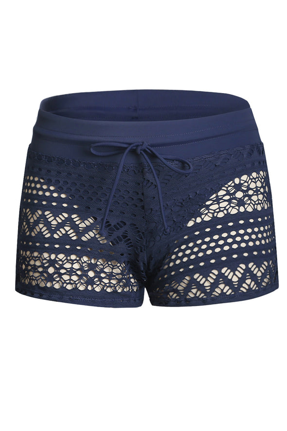 ZESICA Lace Shorts Attached Swim Bottom
