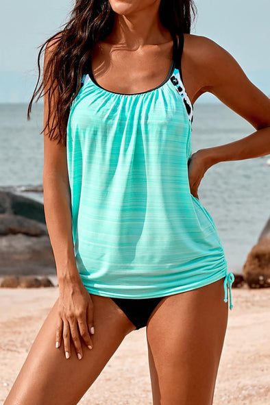 ZESICA Printed Lined Tankini Swimsuit