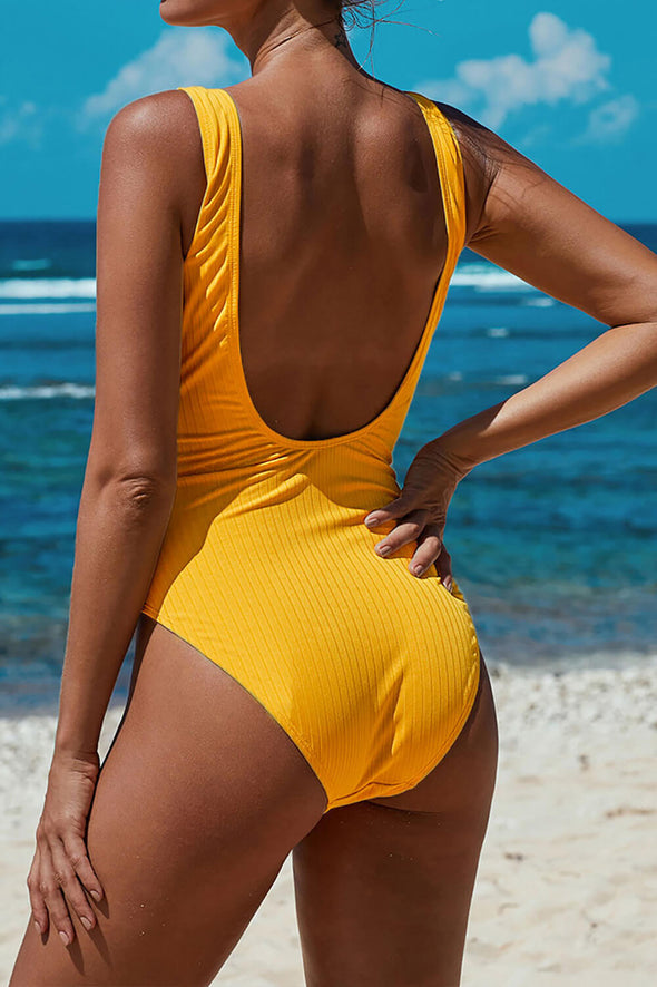 ZESICA Tie Waist One-piece Swimsuit
