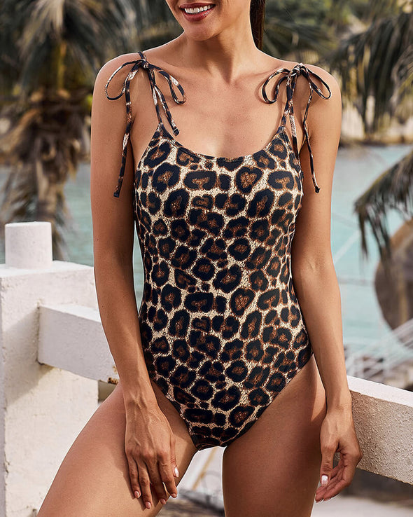 ZESICA Animal Print One Piece Swimsuit