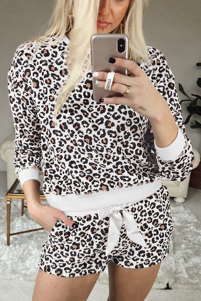 ZESICA Leopard Lounge Set