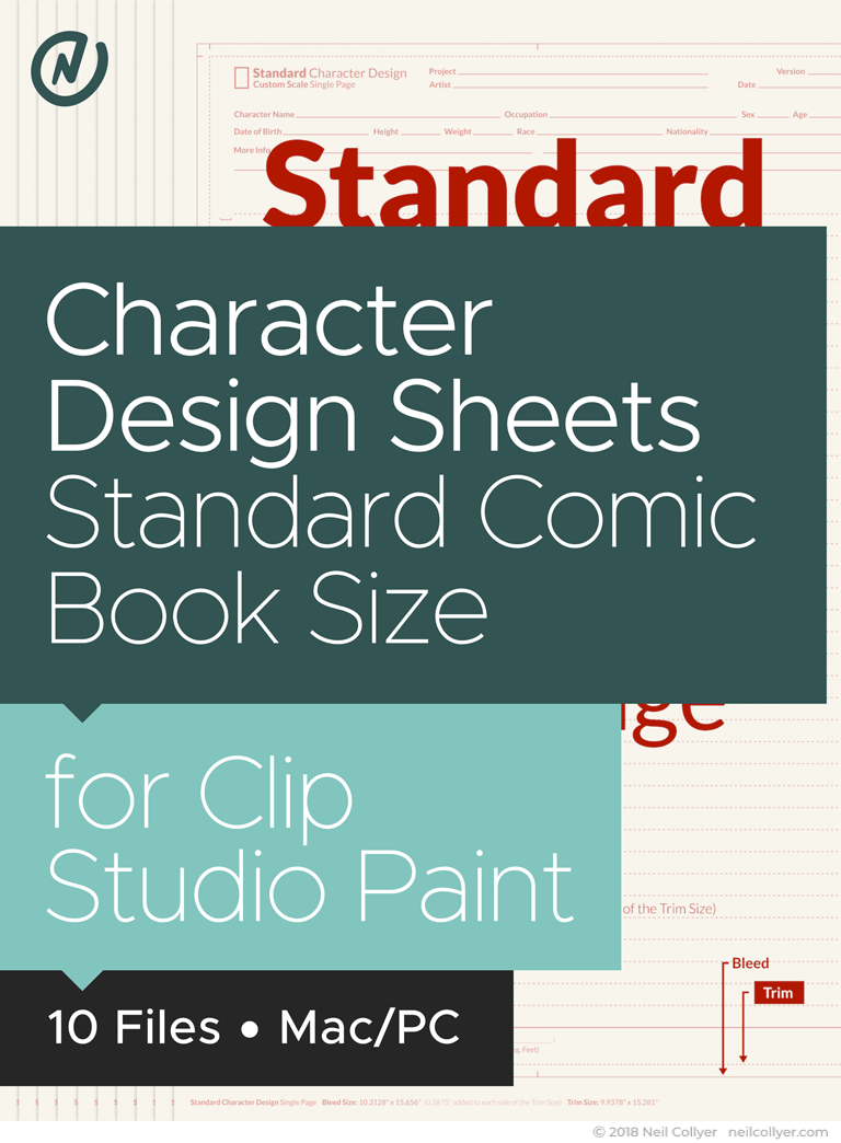 Character Design Sheets in Standard Size for Clip Studio Paint