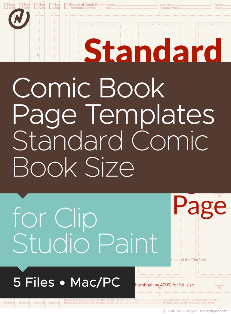 Small Bundle - All Comic Book templates in Standard Comic Book Size