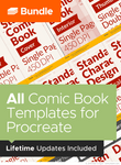 Bundle - All Comic Book Templates for Procreate