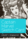 Captain Marvel Original Art Sketch Card by Neil Collyer