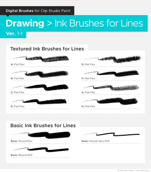 Bundle - All Digital Brushes for Clip Studio Paint