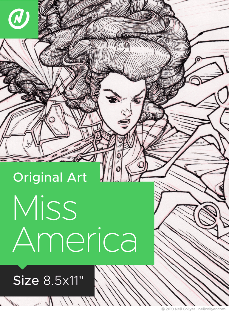 Miss America - 8.5x11 Original Art