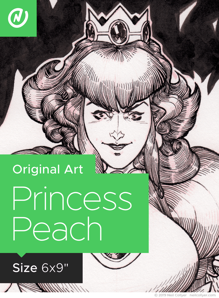 Princess Peach - 6x9 Original Art