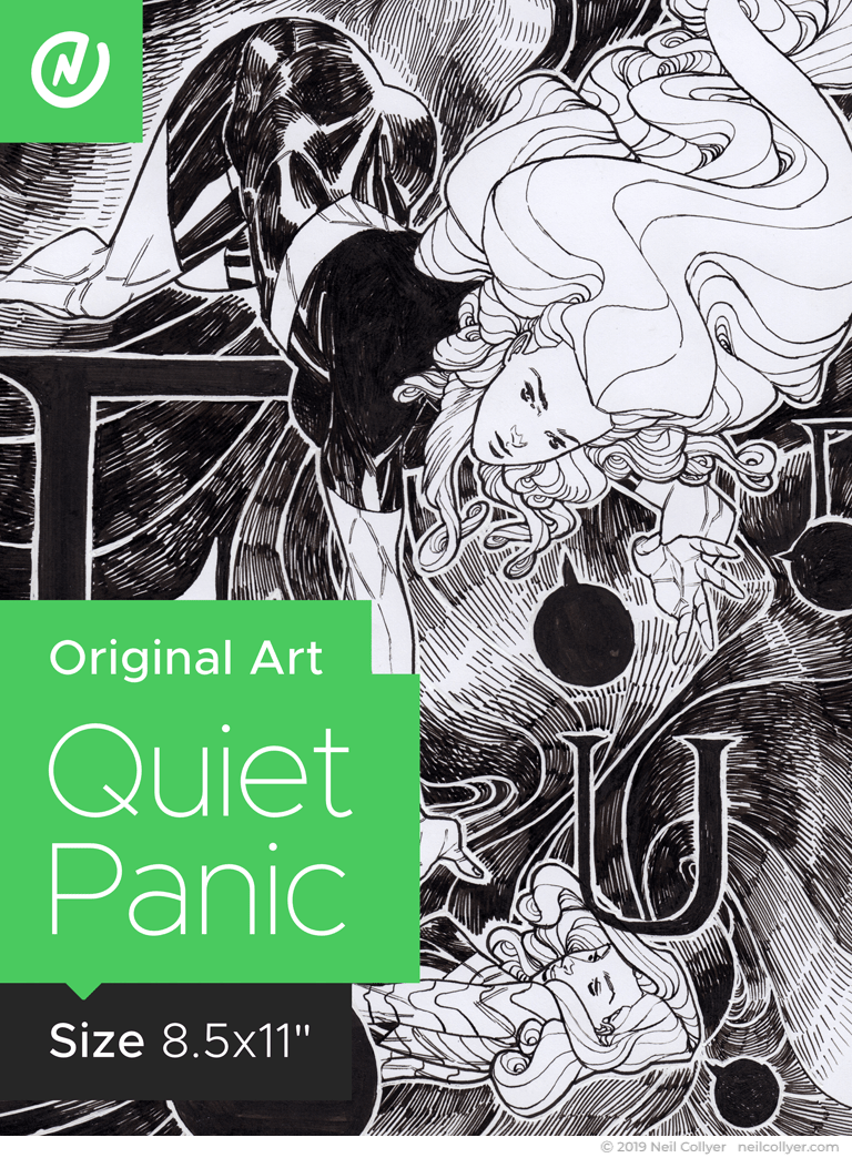 Quiet Panic - 8.5x11 Original Art