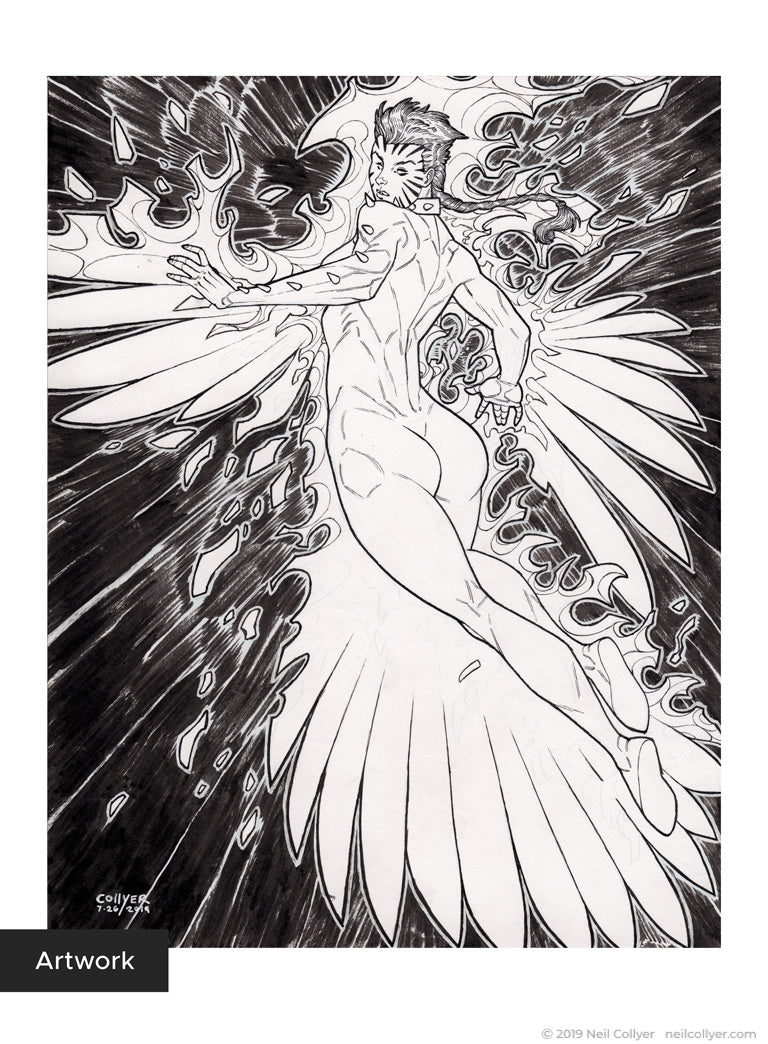 Rachel Summers Phoenix - 8.5x11 Original Art