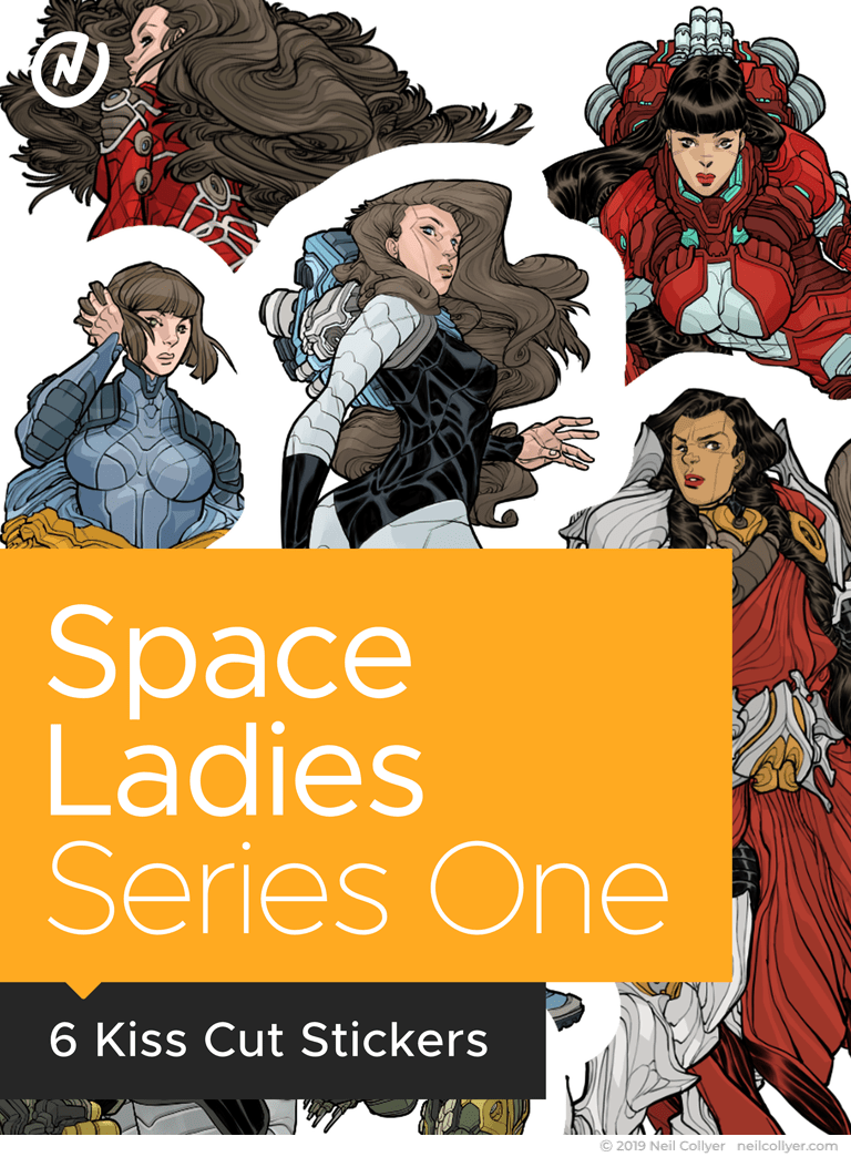 Stickers - Space Ladies Series One