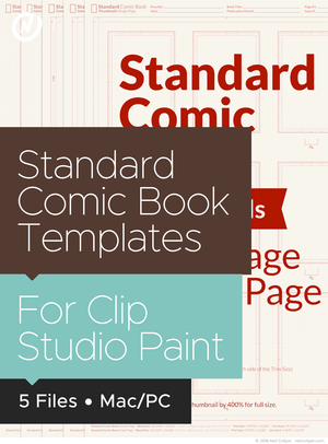 Bundle - All Comic Book Templates for Clip Studio Paint