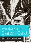 Wolverine Original Art Sketch Card by Neil Collyer