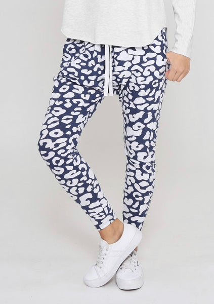 RUBY JOGGERS (INK BLUE AND WHITE)