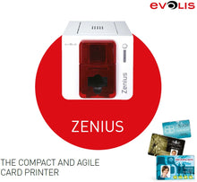 Load image into Gallery viewer, Evolis single-side id card printer Evolis zenius pvc card printer  with  one  R5F008S14 YMCKO ribbon