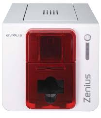 Evolis single-side id card printer Evolis zenius pvc card printer  with  one  R5F008S14 YMCKO ribbon