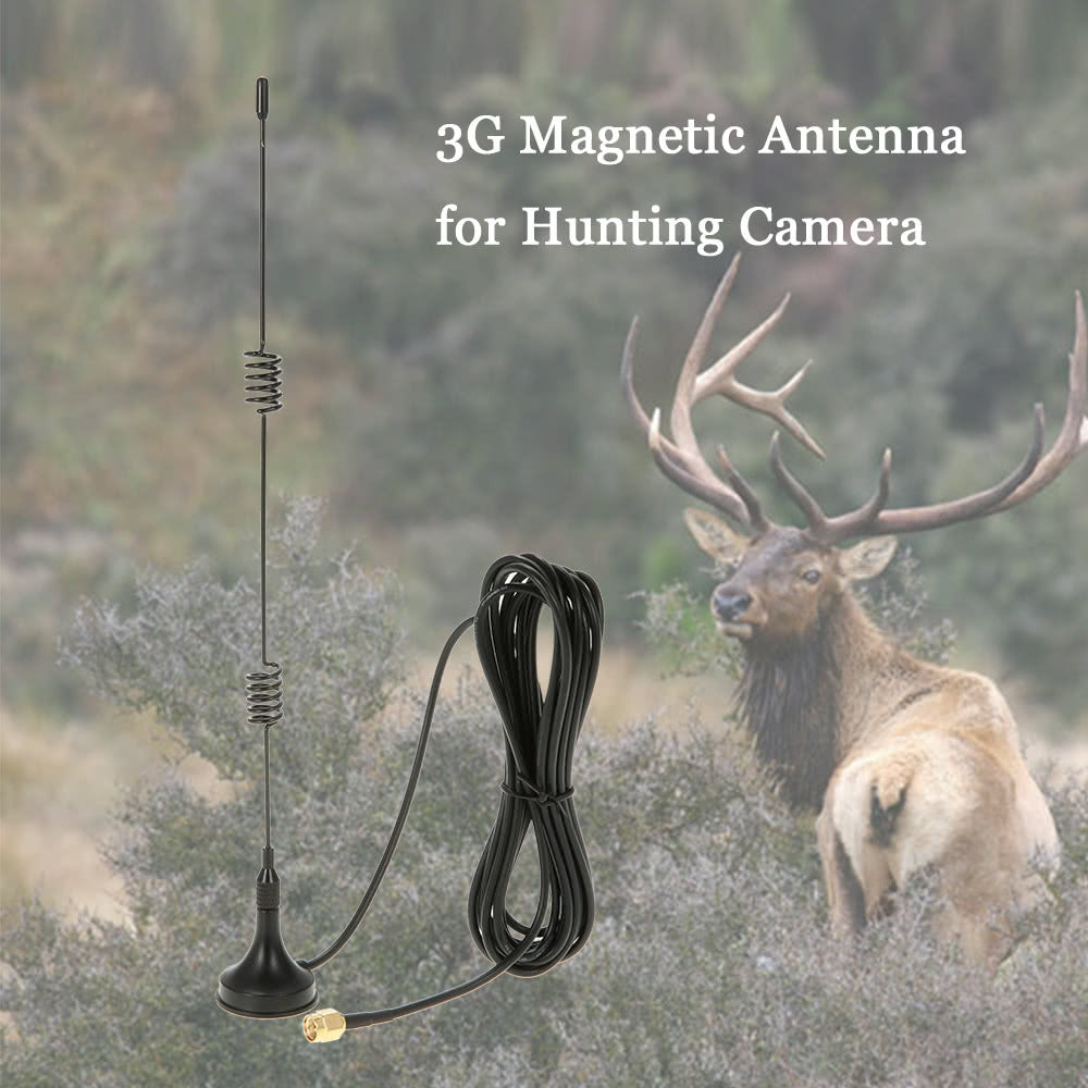2G GSM 3G WCDMA 1800-2200MHz Magnetic Antenna for Trail Game Scouting Wildlife Hunting Camera - Inntelly