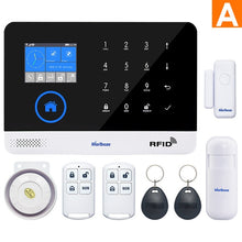 Load image into Gallery viewer, Marlboze EN RU ES PL DE Switchable Wireless Home Security WIFI GSM GPRS Alarm system APP Remote Control RFID card Arm Disarm
