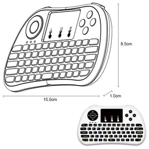 P9 2.4G RF Wireless Keyboard Flash Blacklit Keyboard w/ Touchpad Mouse Combo Multimedia Keys Handheld Remote Control for Android TV BOX PC Smart TV HTPC Tablet Smartphone