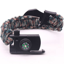 Load image into Gallery viewer, Survival Bracelet Outdoors Survival Paracord Bracelet With Compass Fire Starter and Whistle Emergency Survival Kit Emergency Paracord Bracelets Wilderness Survival Kit For Camp