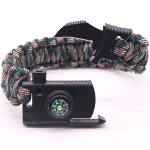 Survival Bracelet Outdoors Survival Paracord Bracelet With Compass Fire Starter and Whistle Emergency Survival Kit Emergency Paracord Bracelets Wilderness Survival Kit For Camp