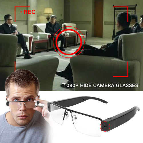 1080P HD Digital Video Glasses Spy Hidden Camera Cam Eyewear DVR Camcorder - Inntelly