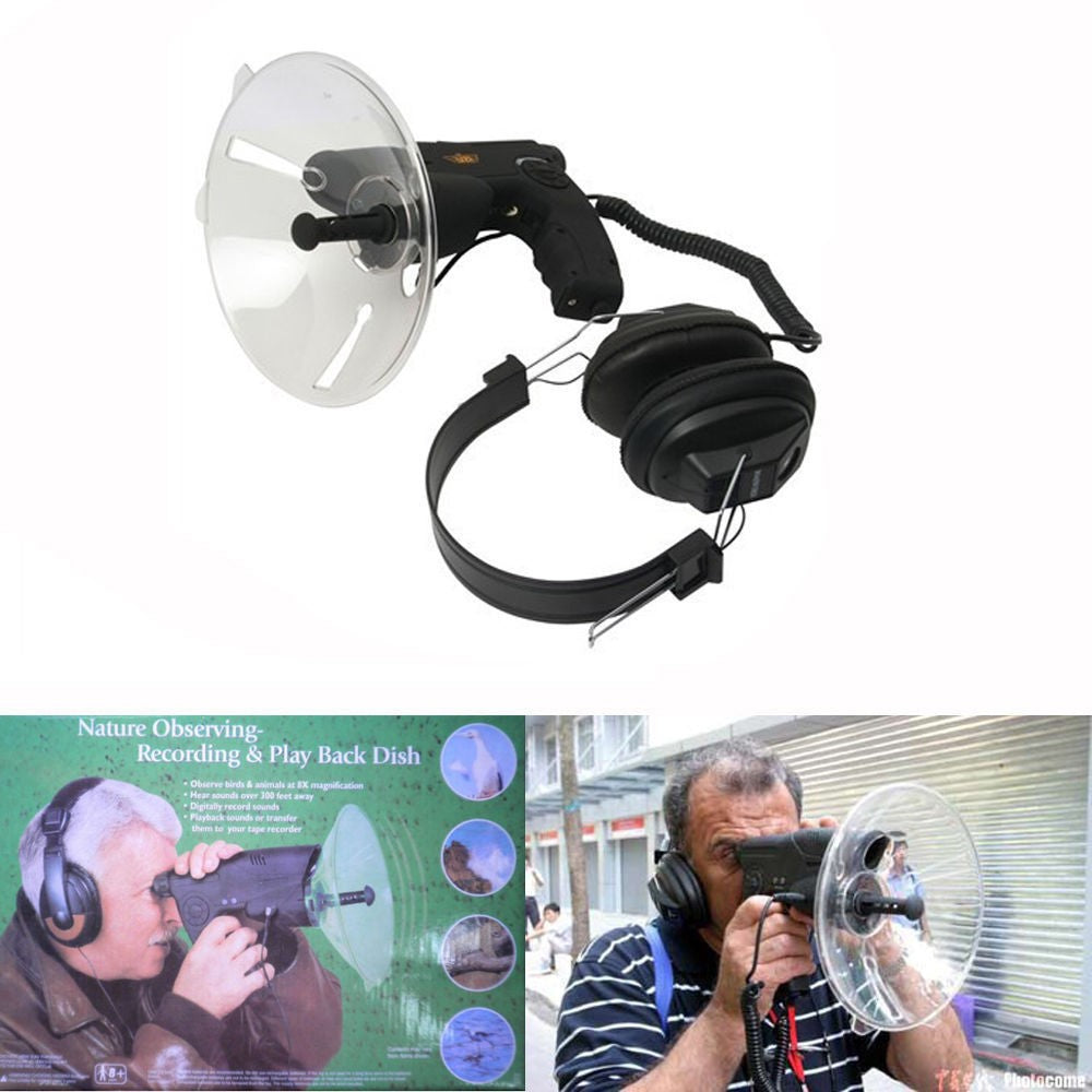 Bird Watch Parabolic Microphone Spy Listen Device Bionic Ear Sound Amplifie300M - Inntelly