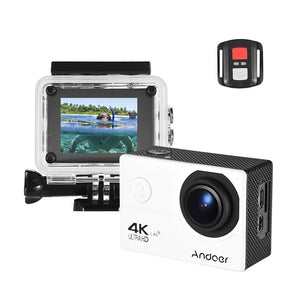 "Andoer AN200 4K WiFi Action Sports Camera 16MP 1080P Full HD 4X Zoom 2"" LCD 170° Wide Angle Waterproof 30m with Remote Control Support Time Lapse Slow Motion Drama Shot - Inntelly"