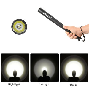 Lixada Portable Base Ball Bat Long Shape 36cm R5 200LM 3 Modes LED Flashlight Torch Lamp Light for Home Security Driving Vehicle Emergency Outdoor Sports