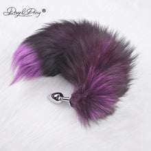 Load image into Gallery viewer, DAVYDAISY Soft Real Fox Fur Tail Metal Anal Plug Stainless Steel Butt Plug Erotic Women Adult Sex Accessories for Couples AC106