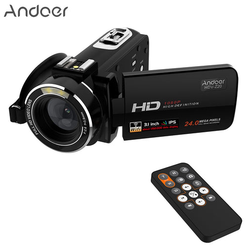 Andoer HDV-Z20 Portable 1080P Full HD Digital Video Camera Max 24 Mega Pixels 16× Digital Zoom Camcorder 3.1