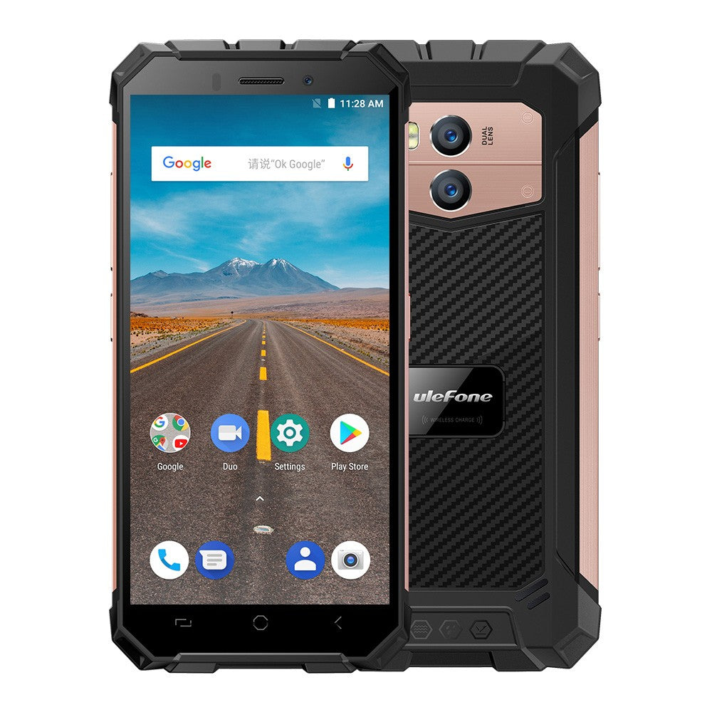Ulefone Armor X Rugged Phone 4G Mobile Phone IP68 Waterproof Android 8.1 5.5Inch HD MT6739 Quad Core 16GB+2GB 13MP Cam NFC Face ID 5500mAh Smartphone
