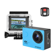"Load image into Gallery viewer, Andoer AN200 4K WiFi Action Sports Camera 16MP 1080P Full HD 4X Zoom 2"" LCD 170° Wide Angle Waterproof 30m with Remote Control Support Time Lapse Slow Motion Drama Shot - Inntelly"