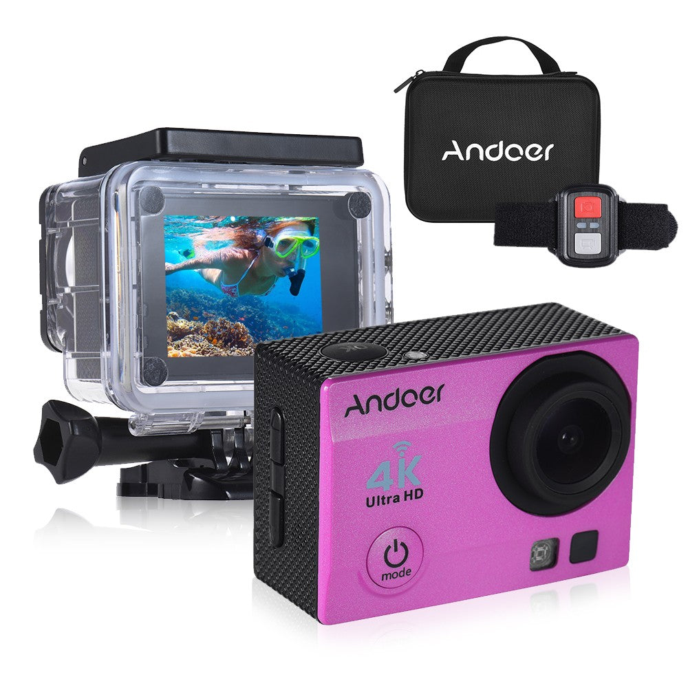 Andoer Q3H-R 4K 30fps 16MP WiFi Sports Action Camera 1080P Full HD 170° Wide-Angle Lens Waterproof 30m 2