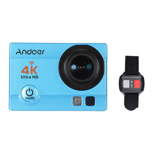 "Andoer Q3H-R 4K 30fps 16MP WiFi Sports Action Camera 1080P Full HD 170° Wide-Angle Lens Waterproof 30m 2"" LCD w/ Remote Control + Portable Carrying Case - Inntelly"