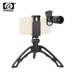 APEXEL APL-20XJJ04 Telephoto Lens Kit Portable 20X Telephoto Zoom Lens Monocular Telescope Lens with Flexible Tripod Phone Holder for iPhone Samsung HUAWEI Xiaomi 5.5cm-8.7cm Width Smartphones - Inntelly