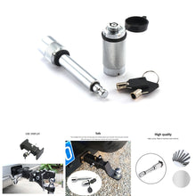 Load image into Gallery viewer, Locking Hitch Pin Trailer Coupler Lock Set Truck Trailer Receiver Lock Security Securely and Reliably Attach Tow Ball Mount to Tow Bar