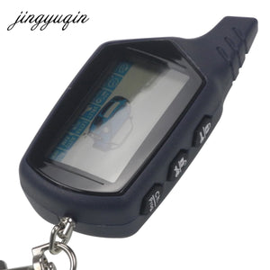jingyuqin Russian Version for StarLine B9 Twage LCD Remote keychain Fob Car Remote 2-Way Vehicle Alarm System /Ch. Prog. +gift
