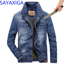 Load image into Gallery viewer, Self Defense Tactical Anti Cut Knife Cut Resistant Denim Jacket Anti Stab Proof Cutfree Stabfree Military Security Jeans Coat