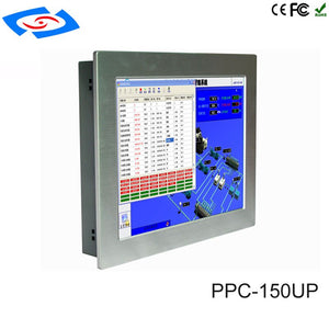 "Factory Store Low Price 15"" Touch Screen Fanless Industrial Panel PC Support 4G/LTE For ATM & Advertising Machines & POS System"