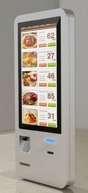 Restaurant self service Ordering information Kiosk with Terminal pos Payment System