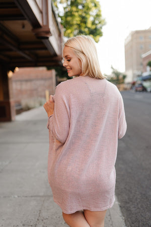 Peaceful Mauve Cardigan