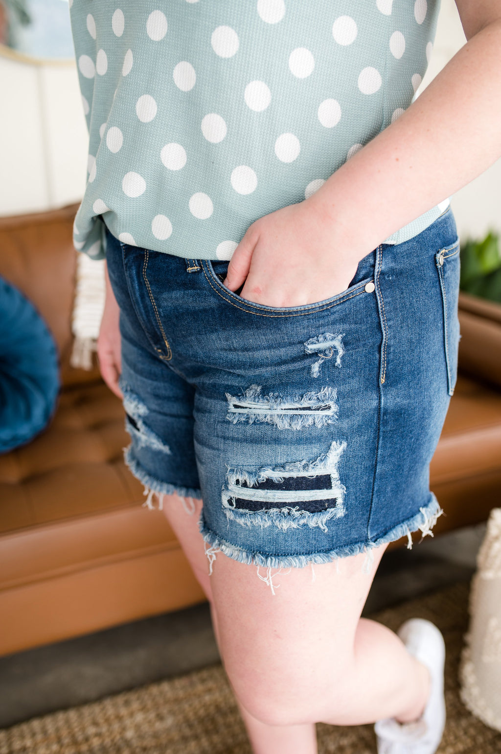 Truth or Tear Judy Blue Distressed Shorts