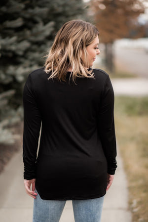 Just A Little Ruche Top In Black