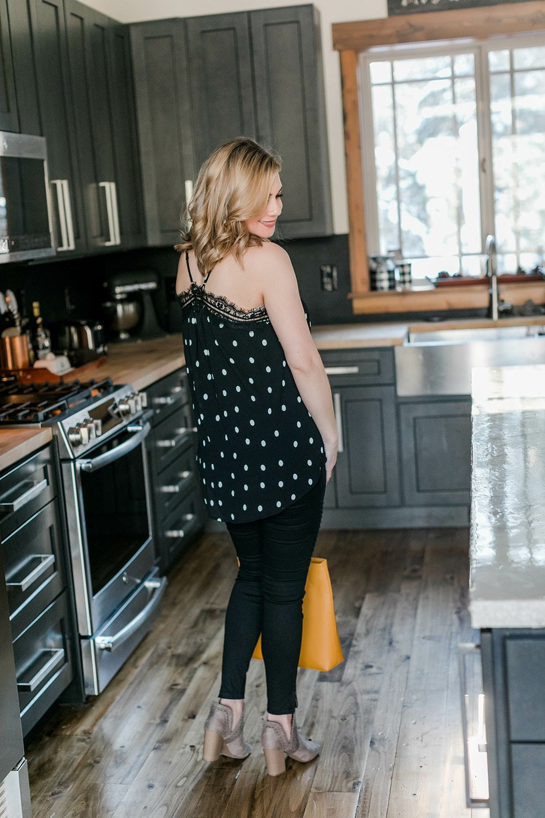 On The Spot Polka Dot Sleeveless Top