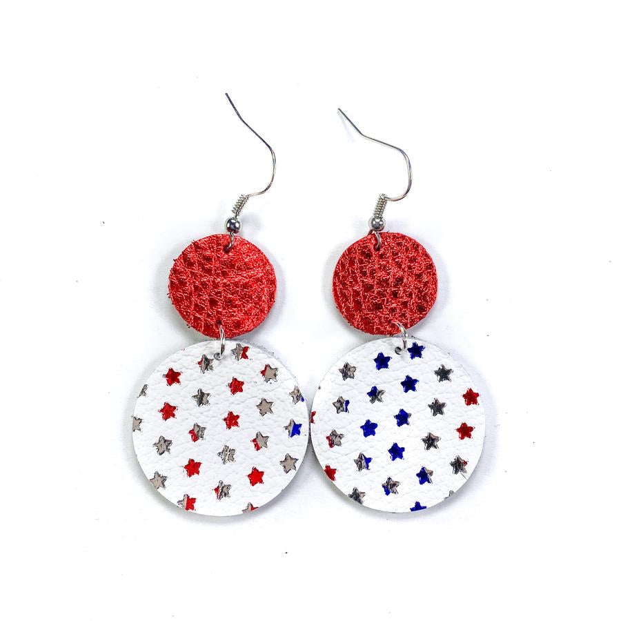 Patriot Leather Earrings