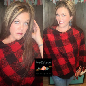 Blakelee Sweater Buffalo Check Red