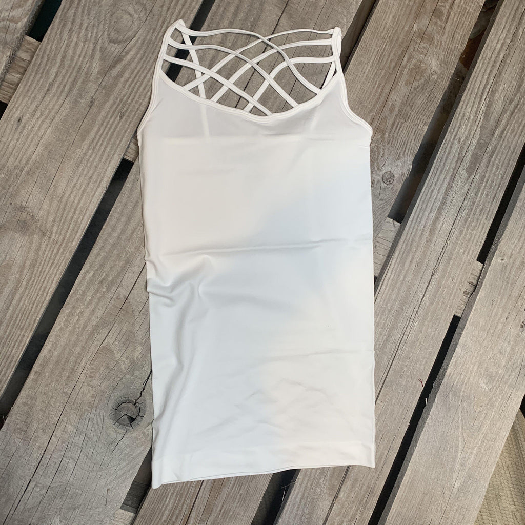 Callie Caged Cami White